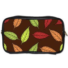 Autumn Leaves Pattern Toiletries Bags 2 Side