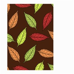Autumn Leaves Pattern Small Garden Flag (two Sides)