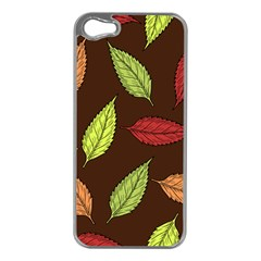 Autumn Leaves Pattern Apple Iphone 5 Case (silver)