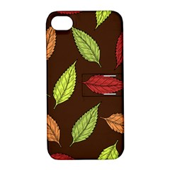 Autumn Leaves Pattern Apple Iphone 4/4s Hardshell Case With Stand