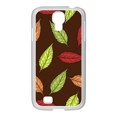 Autumn Leaves Pattern Samsung Galaxy S4 I9500/ I9505 Case (white)