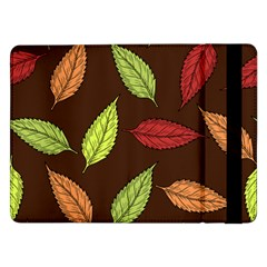 Autumn Leaves Pattern Samsung Galaxy Tab Pro 12 2  Flip Case