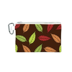 Autumn Leaves Pattern Canvas Cosmetic Bag (s)