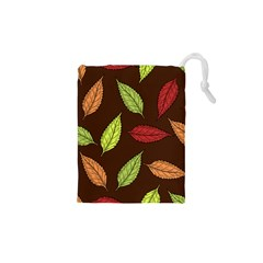 Autumn Leaves Pattern Drawstring Pouches (xs)