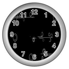 Feedback Loops Motion Graphics Piece Wall Clocks (silver)