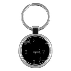 Feedback Loops Motion Graphics Piece Key Chains (round)