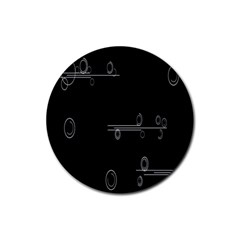 Feedback Loops Motion Graphics Piece Rubber Coaster (round)