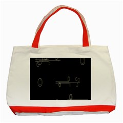 Feedback Loops Motion Graphics Piece Classic Tote Bag (red)
