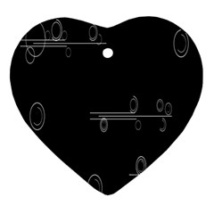 Feedback Loops Motion Graphics Piece Heart Ornament (two Sides)