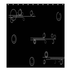 Feedback Loops Motion Graphics Piece Shower Curtain 66  X 72  (large)
