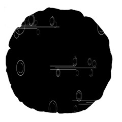 Feedback Loops Motion Graphics Piece Large 18  Premium Round Cushions