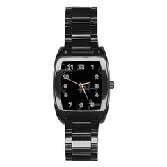 Feedback Loops Motion Graphics Piece Stainless Steel Barrel Watch