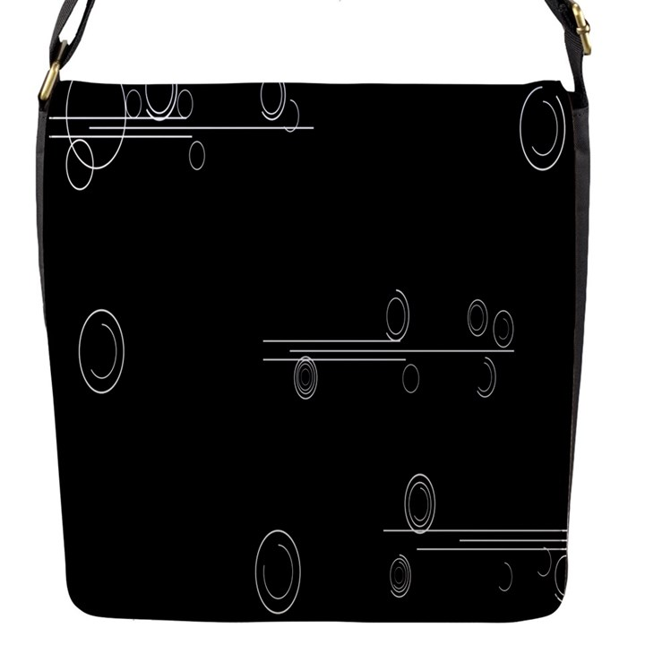Feedback Loops Motion Graphics Piece Flap Messenger Bag (S)
