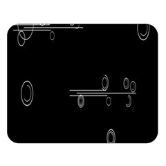 Feedback Loops Motion Graphics Piece Double Sided Flano Blanket (large)
