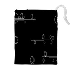 Feedback Loops Motion Graphics Piece Drawstring Pouches (extra Large)