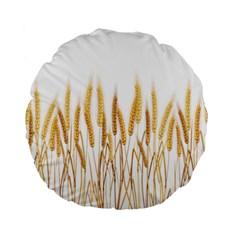 Wheat Plants Standard 15  Premium Round Cushions