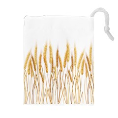 Wheat Plants Drawstring Pouches (extra Large)