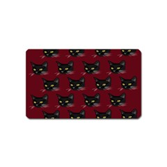 Face Cat Animals Red Magnet (name Card)