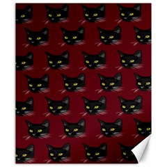 Face Cat Animals Red Canvas 20  X 24