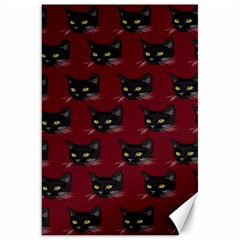 Face Cat Animals Red Canvas 20  X 30