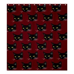 Face Cat Animals Red Shower Curtain 66  X 72  (large)
