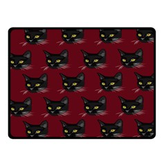 Face Cat Animals Red Fleece Blanket (small)