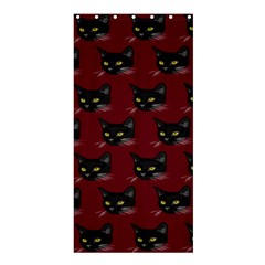 Face Cat Animals Red Shower Curtain 36  X 72  (stall)