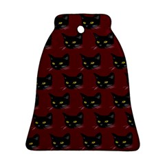 Face Cat Animals Red Ornament (bell)