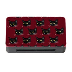 Face Cat Animals Red Memory Card Reader With Cf