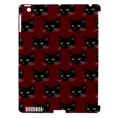 Face Cat Animals Red Apple Ipad 3/4 Hardshell Case (compatible With Smart Cover)