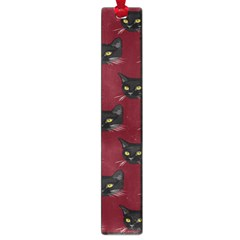 Face Cat Animals Red Large Book Marks