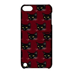 Face Cat Animals Red Apple Ipod Touch 5 Hardshell Case With Stand