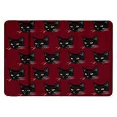 Face Cat Animals Red Samsung Galaxy Tab 8 9  P7300 Flip Case