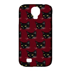 Face Cat Animals Red Samsung Galaxy S4 Classic Hardshell Case (pc+silicone)