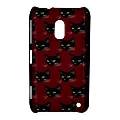 Face Cat Animals Red Nokia Lumia 620