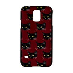 Face Cat Animals Red Samsung Galaxy S5 Hardshell Case