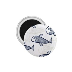Fish Graphic Flooring Blue Seaworld Swim Water 1 75  Magnets