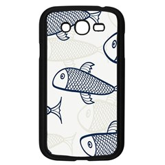 Fish Graphic Flooring Blue Seaworld Swim Water Samsung Galaxy Grand Duos I9082 Case (black)