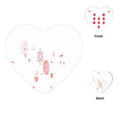 Formulas Laboratories Formulas Mathematics Chemistry Playing Cards (heart)