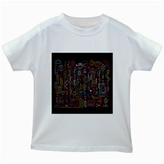 Features Illustration Kids White T Shirts