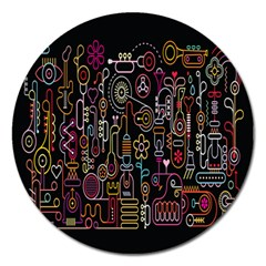 Features Illustration Magnet 5  (round)