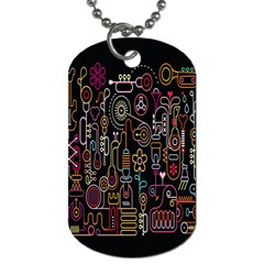 Features Illustration Dog Tag (one Side)