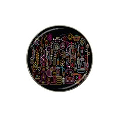Features Illustration Hat Clip Ball Marker (4 Pack)