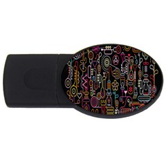 Features Illustration Usb Flash Drive Oval (4 Gb)