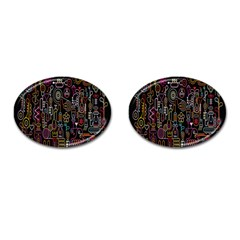 Features Illustration Cufflinks (oval)