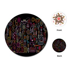 Features Illustration Playing Cards (round)