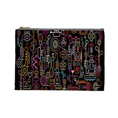 Features Illustration Cosmetic Bag (large)