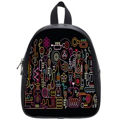 Features Illustration School Bag (small)