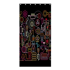 Features Illustration Shower Curtain 36  X 72  (stall)