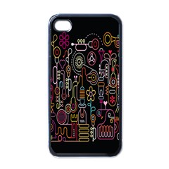 Features Illustration Apple Iphone 4 Case (black)